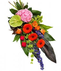 gerbe de fleurs multicolores