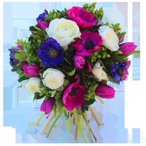 Fleurs de printemps tulipes narcisses en bouquet de for Livrer un bouquet