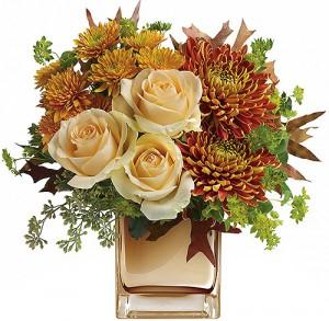 bouquet de chrysanthèmes et roses