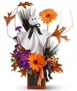 composition de fleurs halloween