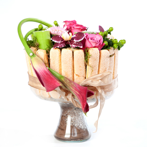 gateaux de fleurs anniversaire: charlotte de fleurs