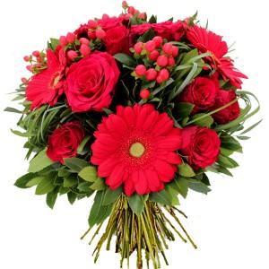 bouquets de saint valentin: bouquet de fleurs rouges