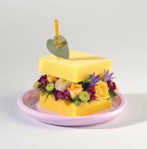 gateaux de fleurs: sandwich de fleurs