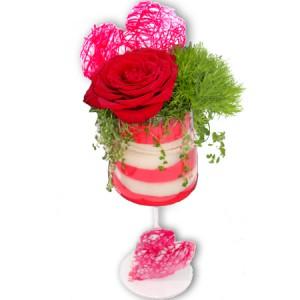 gateaux de fleurs: verrine de fleurs