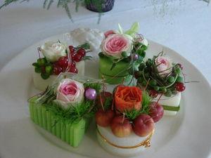 petits gateaux de fleurs: mignardises