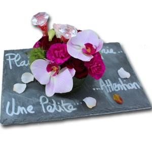 """fleurs de fête la des mères: composition florale """"ardoise Tendresse"""""""