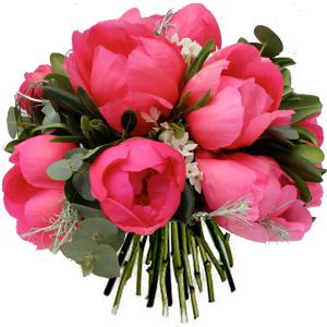 bouquet de pivoines rose fuschia