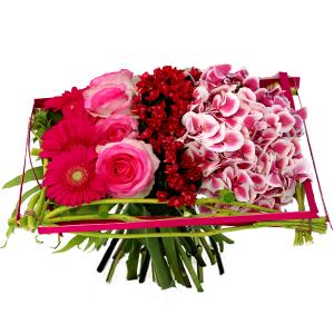 bouquet de fleurs: bouquet de fleurs carré