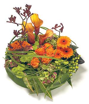 coussin de fleurs pour deuil