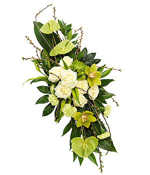 raquette de fleurs pour obsèques
