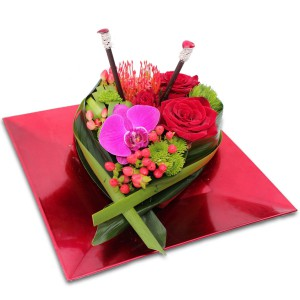 "bouquet saint valentin: composition florale ""Divine"""