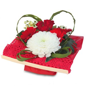 "bouquet saint valentin: composition florale ""fashionista"""