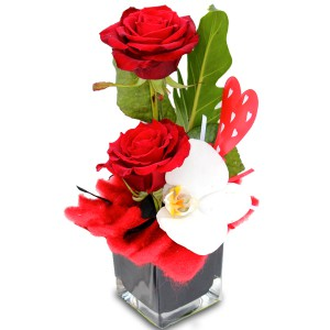 "bouquet saint valentin: composition ""Traviata"""