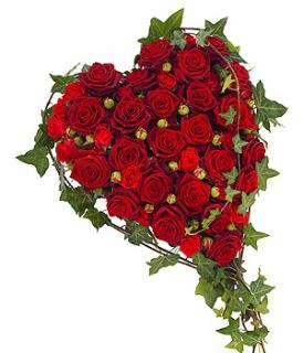 Fleurs Deuil Livraison De Coeur De Roses Rouges Pour Obseques