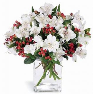 """Connu Livraison fleurs: bouquet de fleurs blanches """"Angélique"""" UR48"""