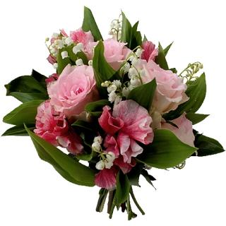 Livraison muguet bouquet de muguet et fleurs roses for Bouquet de fleurs muguet