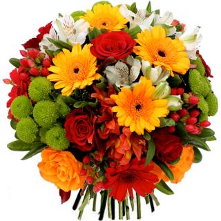 Livraison fleurs du bouquet anniversaire noa par floraclic for Bouquet de fleurs rond