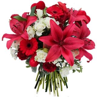 Fleurs saint valentin livraison du bouquet amour fou for Bouquet saint valentin