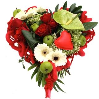 Fleurs saint valentin livraison du bouquet c ur eden for Bouquet de fleurs pour 60 ans