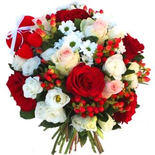 Livraison fleurs du bouquet saint valentin ing nue par for Bouquet st valentin pas cher