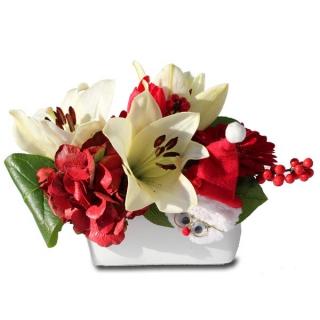 fleurs de no l livraison fleurs de la composition florale l gende de no l. Black Bedroom Furniture Sets. Home Design Ideas