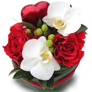 Fleurs saint valentin livraison de la composition florale eden - Composition st valentin ...
