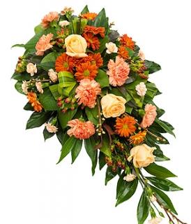 fleurs deuil livraison de gerbe de fleurs orange par floraclic. Black Bedroom Furniture Sets. Home Design Ideas