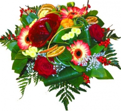 Bouquets ronds « Bouquet Fuego »