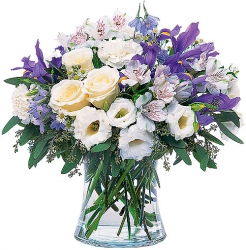 Bouquets de fleurs bleu violet parme « Bouquet Outremer »
