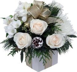 Fleurs de Noël / Nouvel An « Bouquet Neige »