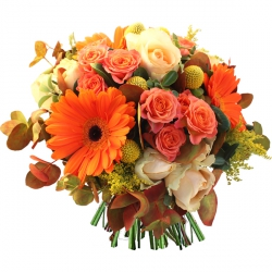 Bouquets de fleurs orange « Bouquet Iseult »