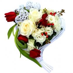 Composition florale envoi de fleurs domicile ou la for Envoi fleurs domicile