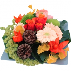 Bouquets de fleurs orange « Composition Aurore »