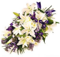 Miniature du produit « Fleurs deuil et condoléances: Gerbe Violette et Blanche »