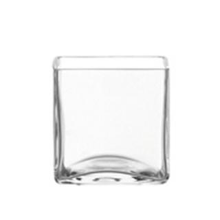 vase cubique pour bouquet rond