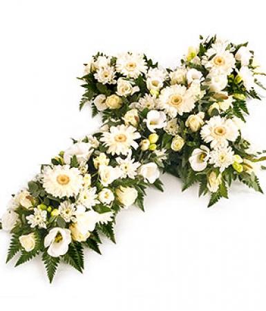 livraison fleurs deuil croix de fleurs pour enterrement floraclic. Black Bedroom Furniture Sets. Home Design Ideas
