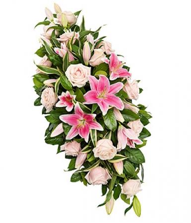livraison fleurs deuil raquette pour deuil de fleurs roses. Black Bedroom Furniture Sets. Home Design Ideas