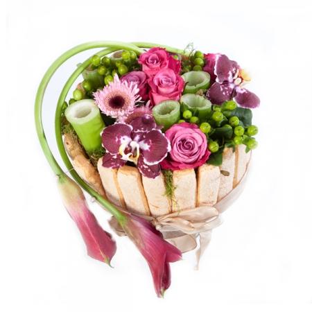 Fleurs anniversaire livraison du g teau de fleurs charlotte for Bouquet de fleurs 70 ans