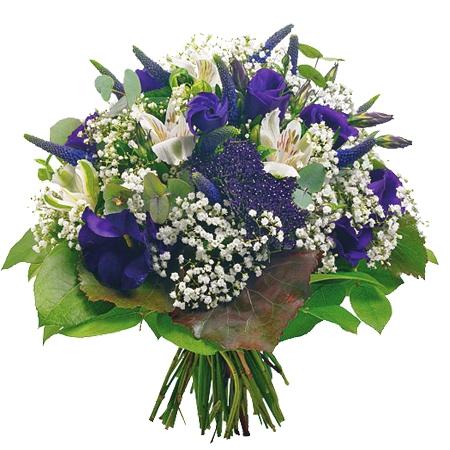 livraison fleurs deuil bouquet bleu et blanc ouessant. Black Bedroom Furniture Sets. Home Design Ideas