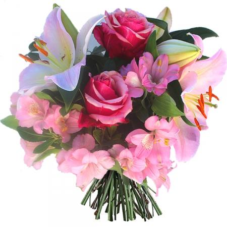 Livraison fleurs anniversaire bouquet rose princesse for Bouquet de fleurs pour 70 ans