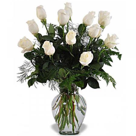 livraison fleurs bouquet roses blanches floraclic. Black Bedroom Furniture Sets. Home Design Ideas