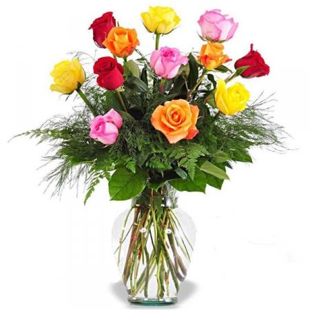 Livraison fleurs bouquet de roses muticolores floraclic for Livraison rose