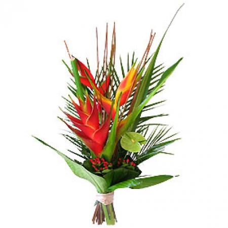 livraison fleurs exotiques bouquet d 39 h liconias safari. Black Bedroom Furniture Sets. Home Design Ideas