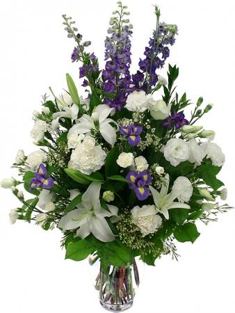 Populaire Livraison fleurs du Bouquet Océan blanc et bleu MU36