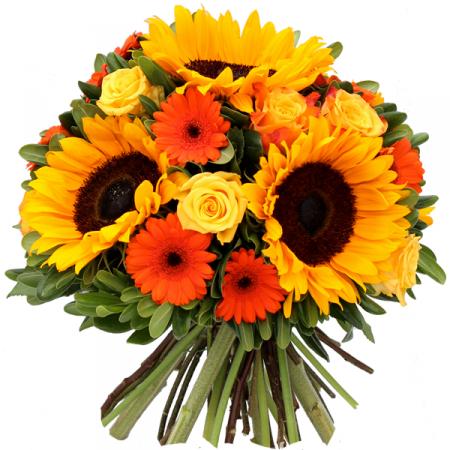livraison fleurs bouquet de tournesols tequila floraclic. Black Bedroom Furniture Sets. Home Design Ideas