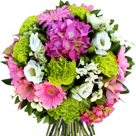 Livraison fleurs bouquet anniversaire eden rose vert blanc for Bouquet de fleurs vert et blanc