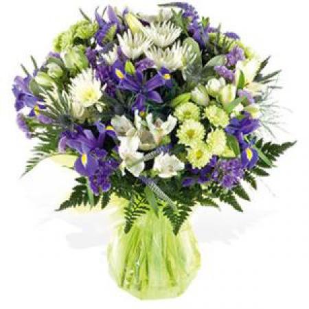 Livraison fleurs bouquet menthe floraclic for Bouquet de fleurs vert et blanc