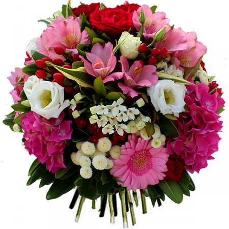 Livraison fleurs du bouquet d 39 anniversaire elyse par for Bouquet de fleurs rond