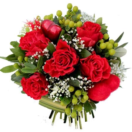 Livraison de fleurs amour bouquet de roses rouges 39 allure 39 for Bouquet de fleurs rose rouge