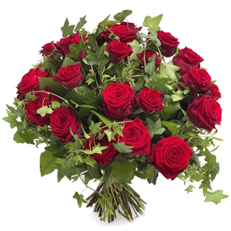 """livraison fleurs: bouquet de roses rouges """"valentin"""" - floraclic"""